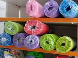 Yoga mats of 4 & 6 mm thickness