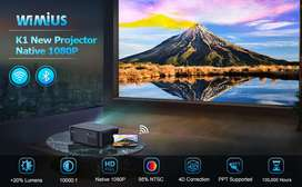 100 Inch WiFi Projector Watch TV,Mobile.Movies Cricket on Big Screen