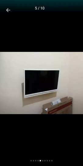 Bracket/braket tv led+pasang