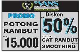 Promo Diskon sd 50% Cat Rambut/Smoothing, Hanya Di eVans Salon Cijerah