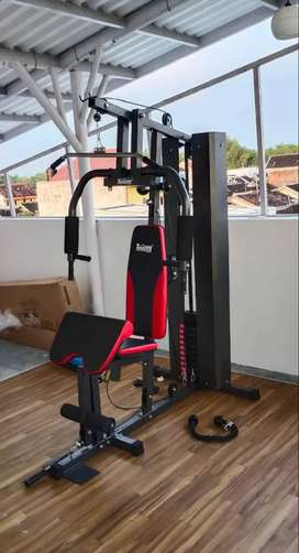 Alat fitnes rumah   home gym 1 sisi merk total