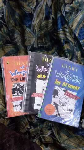 Diary of a wimpy kid set of 3