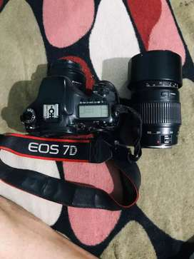 Canon eos 7D with lenses tamron 70 - 300mm lens & canon 50mm lens