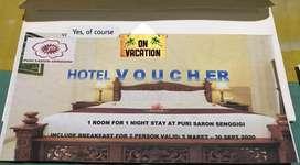 Compliment Hotel Voucher Puri Saron senggigi Lombok