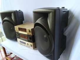 promo new paket speaker pasif 15 +amplifer