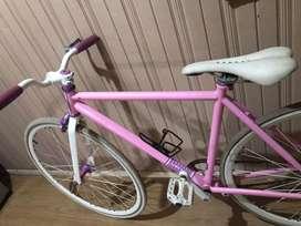 Sepeda fixie pink