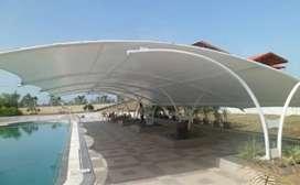 Kami bengkel las nerimah pembuatan kanopi atap membarane $$1116