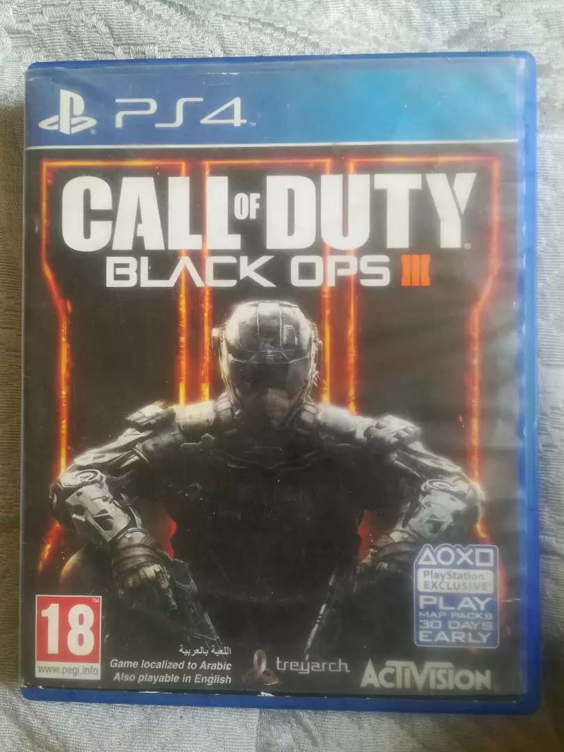 PS4 COD Black Ops 3 region 2. For sale 0