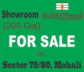 200 gaj Showrom on sale in Sector 79/80, Mohali at best price