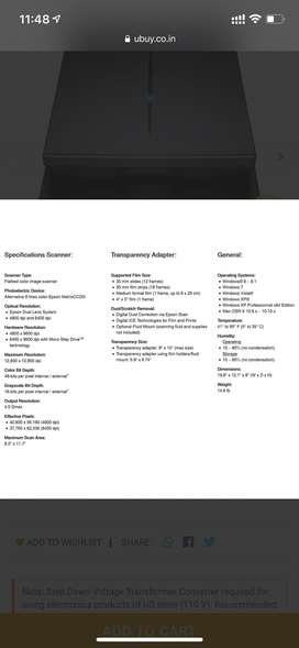 Epson V850 Pro Scanner