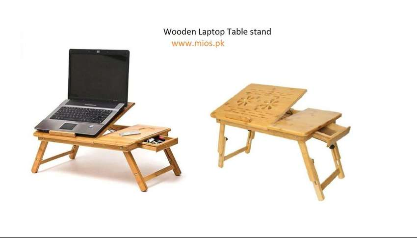 Online Wholesales Mios.pk WOODEN LAPTOP TABLE & STAND MULTIPURPOSE WIT 0
