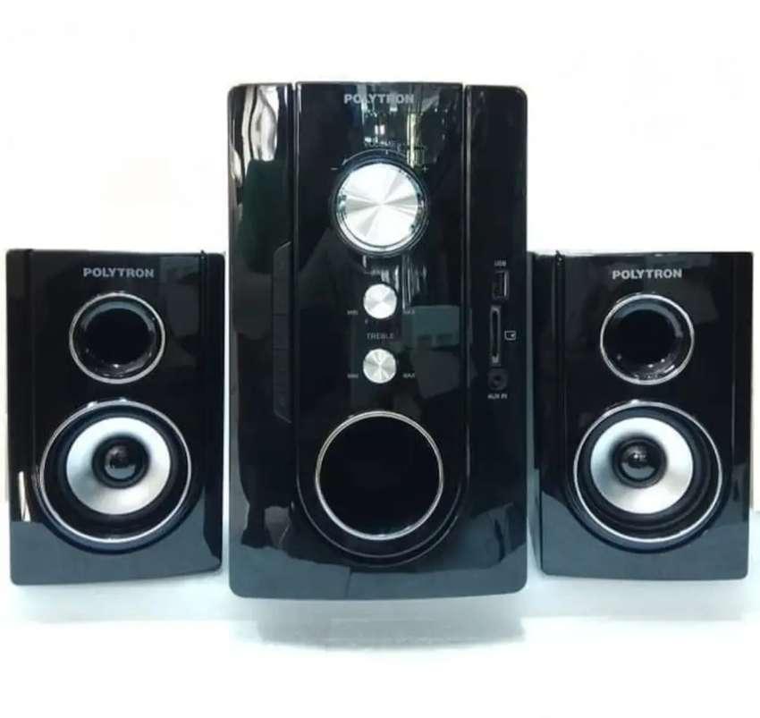 speaker polytron pma multimedia audio bluetooth usb sd mmc fm 9300 0