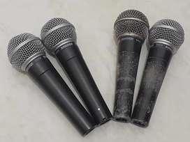 Microphone kabel mic shure SM 58 original mexico