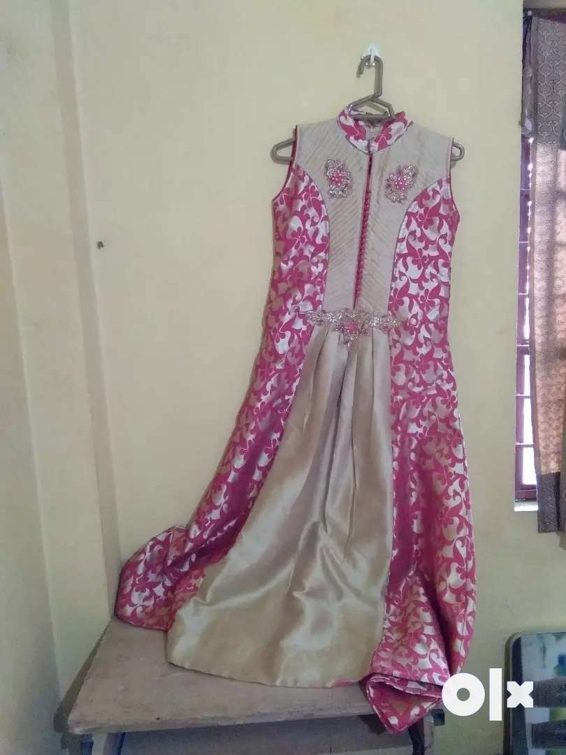 Pinky golden party dress 0