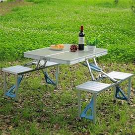 Portable Camping Table and Chairs Set