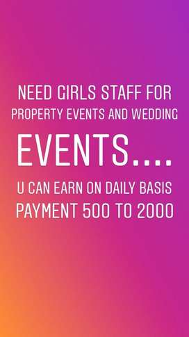 Need girls Staff for events