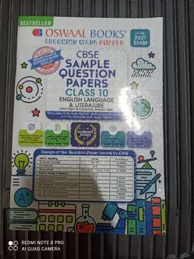 CBSE sample question papers class 10 English by oswaal 2021