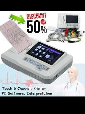 CE Touch ECG EKG Machine Electrocardiograph  12 Lead Printer ECG600G