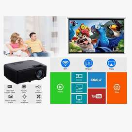 Big Offer 100 INCH Wi-Fi LED HD PROJECTOR WATCH TV MOVIES ON LARGE SCR