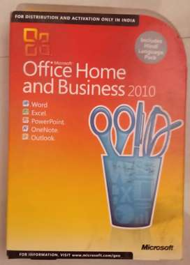 Office Home and business 2010 with keygen original pack one..
