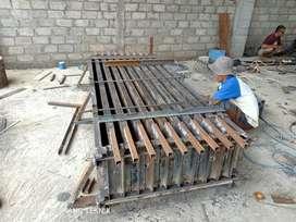 Jual cetakan pagar panel uditch buis beton cansten