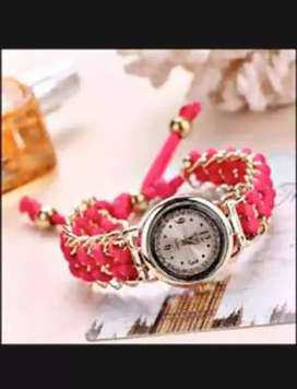 New arrivals girls analog handmade bracelet watch (decription read ok)