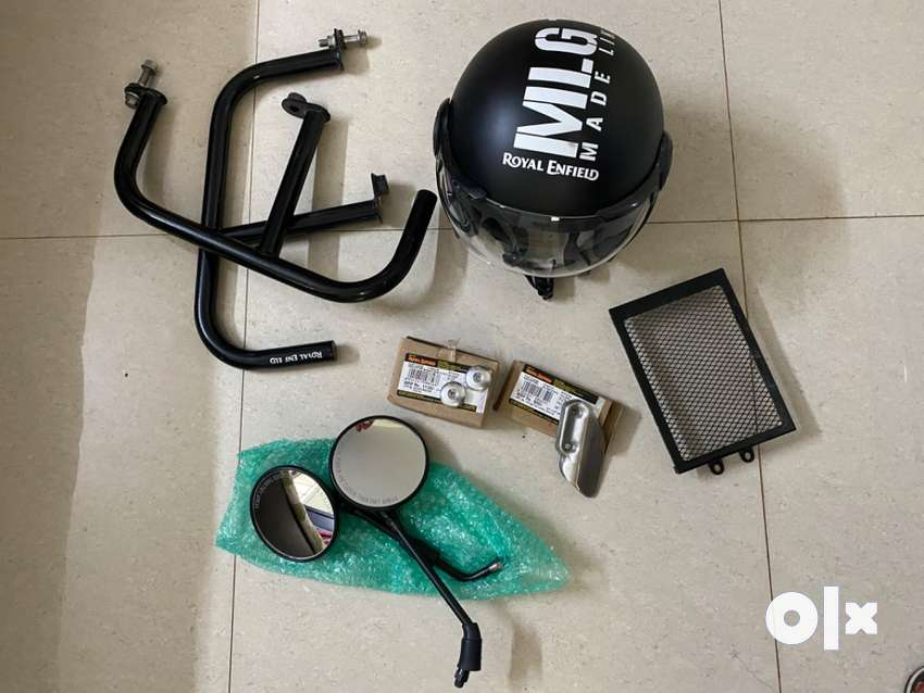 Royal Enfield Interceptor 650 Accessories Including Helmet for sale 0