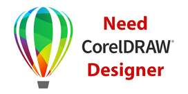Need CorelDraw Graphics Designer - Job Work
