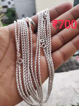 Branded 92.5 Pure Silver Chains and Rings@cheap