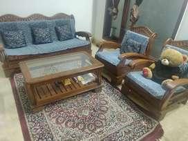 5seater sheesham wooden sofa
