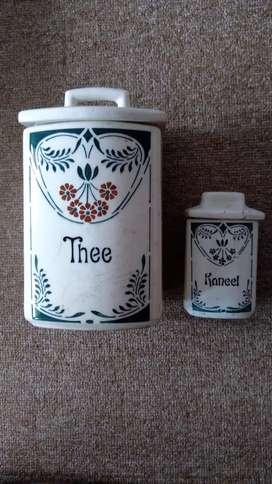 Keramik Coffe/Tea Set antik