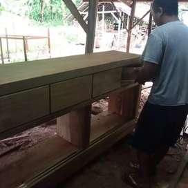 Almari meja ukuran besar jati tua