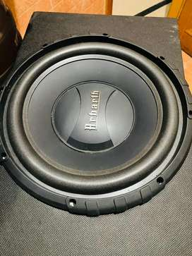Arbarth woofer and 4 channel amplifier