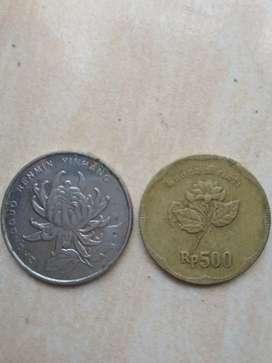 Jual uang koin melati thn 1992 kuno sama koin asing yang minat jafri