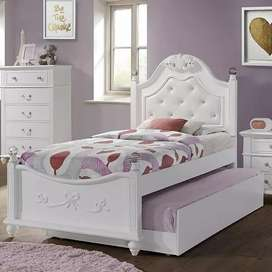 Tempat tidur anak, full set, motif minimalis,kayu jati,freeongkir