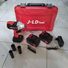 Impact wrench cordless jld merah