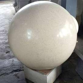 bola taman terazzo dengan bentuk dan ukuran sangat elegan