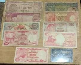 Uang kuno 100 rupiah 9 Genereasi