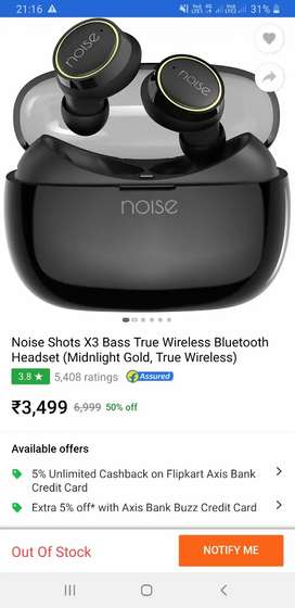 Want to sell noise x3 earbuds