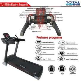 treadmill elektrik auto incline lipat tl155 / treadmi total tl-155