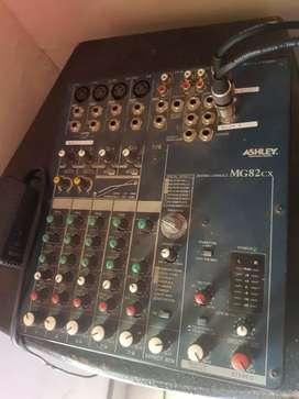 Speaker dan mixer plus mic bmb