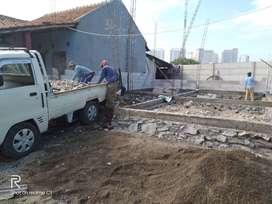 Urugan puing,buang puing ,tanah merah ,pindahan,dll