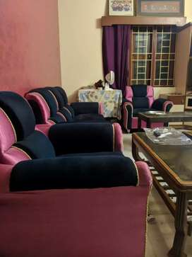 Fabric sofa set 3+1+1 just 2 months old for sale