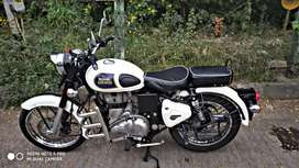 Royal Enfield classic white showroom condition