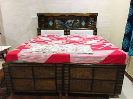 King size Double Bed without mattress