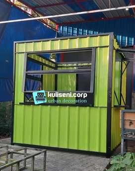 Booth lipat container folding pertama di Indonesia