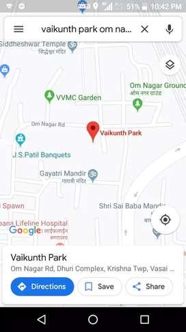 1RK, on rent at Vasai,  Omnagar