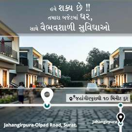 Book 2BHK Row House at Olpad Masma Road with a Token of 51,000 only