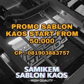 Sablon kaos murah start from 50K