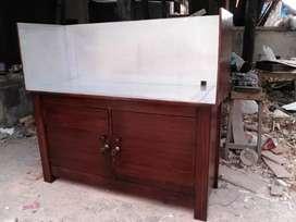 Meja kompor buat 2 tungku ukuran 100x45x70 atas di lapis almunium